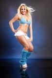 Louro azul bonito Imagem de Stock Royalty Free