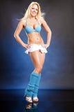 Louro azul bonito Fotografia de Stock Royalty Free