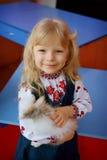 Louro da menina da criança Fotos de Stock Royalty Free