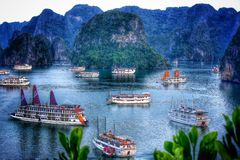 Louro de Halong Fotografia de Stock Royalty Free