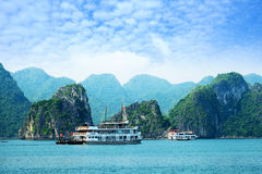Louro de Halong em Vietnam Fotografia de Stock