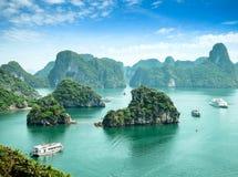 Louro de Halong em Vietnam Fotografia de Stock Royalty Free