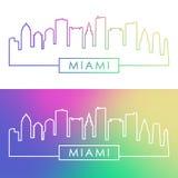 Louro de Miami com Jetski Estilo linear colorido ilustração royalty free