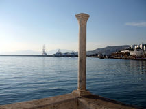 Louro de Mykonos no por do sol Imagens de Stock