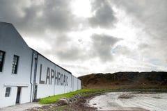 Louro e destilaria de Laphroaig Imagem de Stock