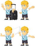 Louro Rich Boy Customizable Mascot 15 Foto de Stock Royalty Free