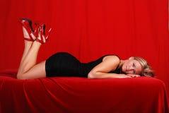 Louro 'sexy'. Fotos de Stock Royalty Free
