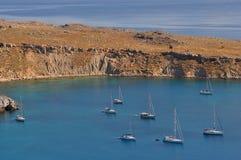 Louro Vlicha, mar Mediterrâneo fotos de stock royalty free