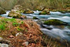 Lousiosrivier in de Peloponnesus, Griekenland stock afbeelding