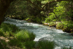 Lousiosrivier, Griekenland Stock Foto's