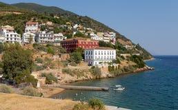 Loutra Edipsou, norr Euboea, Grekland Arkivbild