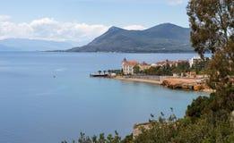 Loutra Edipsou, norr Euboea, Grekland Arkivfoto