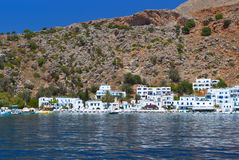 Loutro bay at Crete island in Greece Royalty Free Stock Photos