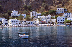 Loutro. Small village on the south coast of Crete Island Royalty Free Stock Photo