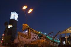 Louva-a-deus do parque do recipiente em Las Vegas, nanovolt o 10 de dezembro, 2 Imagens de Stock