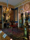 Louve, εσωτερικό παλατιών Στοκ Φωτογραφίες