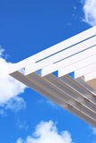 Louver/sun shade with blue sky background. Aluminium louver or sun shade with blue sky background Stock Photography