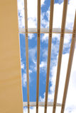 Louver/sun shade with blue sky background Royalty Free Stock Photos