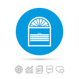 Louvers plisse sign icon. Window blinds jalousie. Louvers plisse sign icon. Window blinds or jalousie symbol. Copy files, chat speech bubble and chart web icons stock illustration