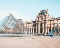 Louvré Francja obraz royalty free