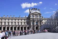 Louvre stock photo