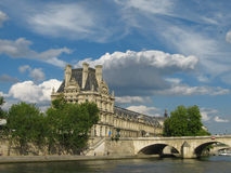 The Louvre. Great views of Paris from the Seine, the Louvre, France Stock Photo