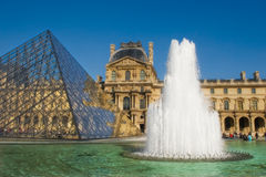 Louvre #4. Picture of Louvre museum and the Pyramid in Paris, France Stock Images