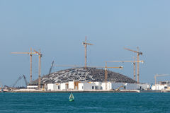 Louvre Abu Dhabi museum construction site Stock Photo