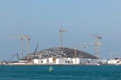 Louvre Abu Dhabi museum construction site stock photo