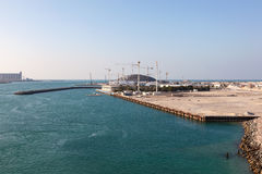 Louvre Abu Dhabi museum construction site Royalty Free Stock Image