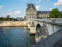 The Louvre from across the Pont Royal, Paris Stock Images