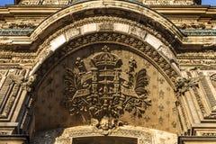 Louvre architecture elements, Paris Stock Photos