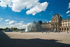 Louvre art museum in Paris Royalty Free Stock Images