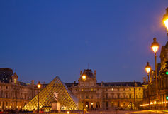 The Louvre Art Museum  in Paris Stock Images