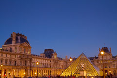 The Louvre Art Museum, Paris, France Royalty Free Stock Images