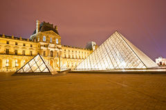 The Louvre Art Museum, Paris, France. Stock Photography