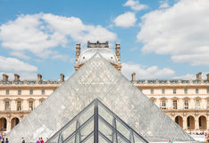 The Louvre Art Museum  in Paris Stock Photography