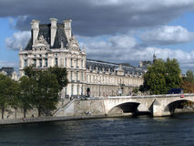 The Louvre Art Museum and the River Seine, Stock Photos