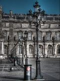 The Louvre building during sunny day Royalty Free Stock Photography