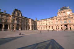 Louvre buildings Royalty Free Stock Photos