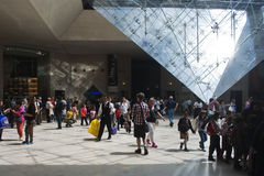 Louvre. Is consistently the most visited museum worldwide. This photo was taken on 20/06/2013 Royalty Free Stock Photos