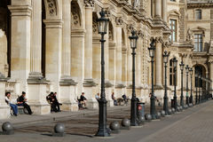 The Louvre courtyard Royalty Free Stock Photo