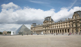Louvre Courtyard Royalty Free Stock Photography