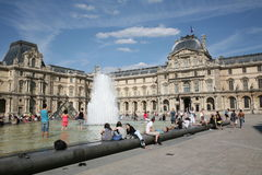Louvre Courtyard Stock Photos