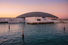 Louvre de Abu Dhabi Fotos de archivo