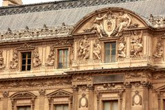 Louvre de bouw Stock Foto