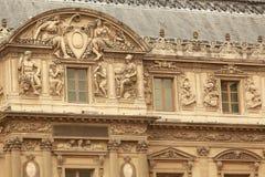 Louvre de bouw Royalty-vrije Stock Afbeeldingen