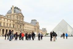 Louvre del palacio Fotos de archivo libres de regalías