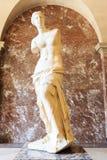 Louvre den Venus de Milo statyn är det ett av mest viktig statu Arkivfoton
