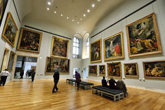 Louvre do museu, Paris Foto de Stock Royalty Free